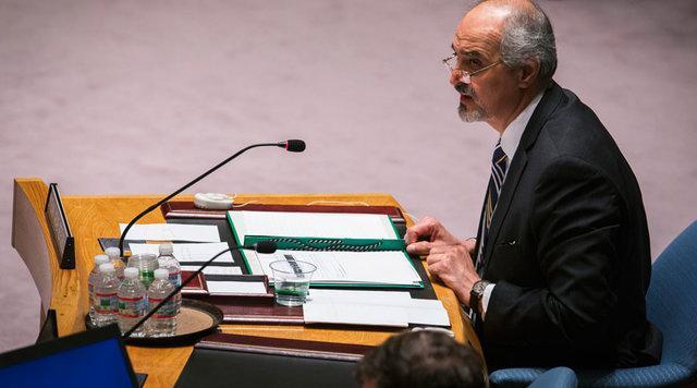 بشار جعفری: حرف های هیلی تروریست ها را به استفاده از سلاح شیمیایی تشویق می کند
